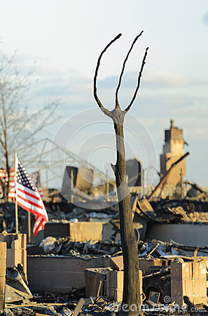 Haus-Feuer Redaktionelles Stockfotografie