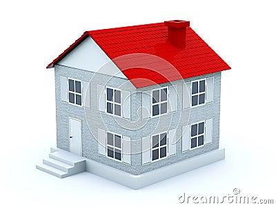 Haus mit rotem dach stockfotos bild 12243813 for Modernes haus mit rotem dach