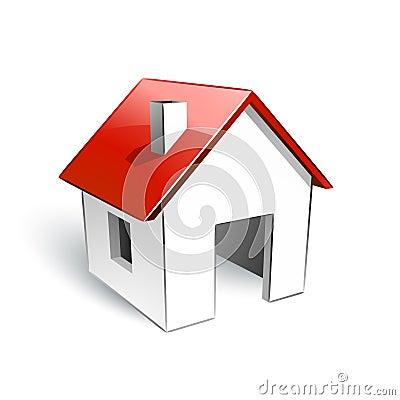 Haus mit rotem dach stockbilder bild 15693024 for Modernes haus mit rotem dach