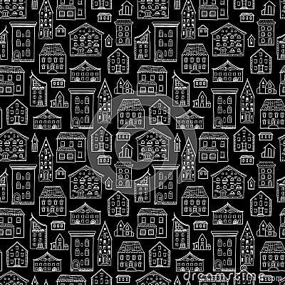 Haus muster schwarz wei vektor abbildung bild 73893831 for Haus muster