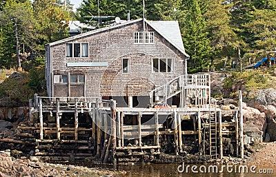 Haus und Dock des Fischers