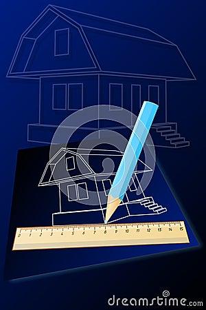 Haus-Zeichnung