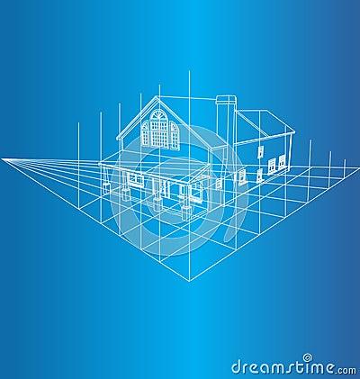 Haus-Zeichnung 3D