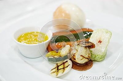 Royalty free stock photography haute cuisine dish