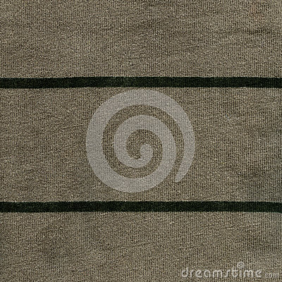 Texture de tissu de coton - grise/vert avec les rayures vert-foncé