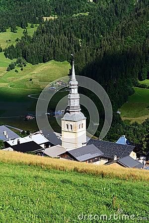 Hautekuce village in alps