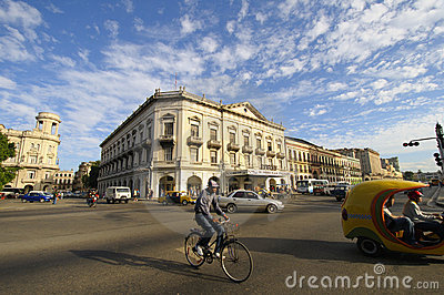 HAVANA - 30 DEC, 2009. Traffic in Havana street. Editorial Photography