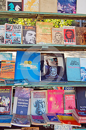 Havana book stall Editorial Stock Image