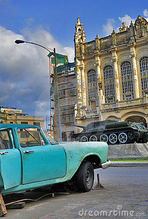 Havana car and revolution palace