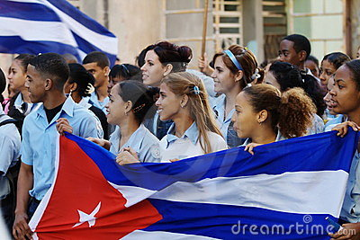 Havana March Students Editorial Stock Image
