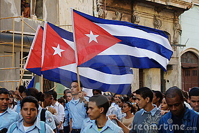 Havana March Students Editorial Image