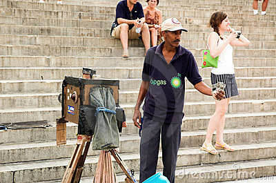 Havana photographer Editorial Stock Photo