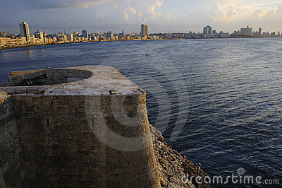 Havana skyline and bay entrance