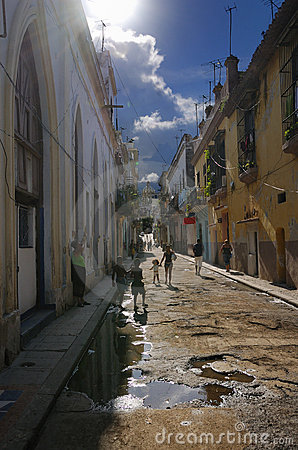 Havana street, cuba. October 2008 Editorial Stock Photo