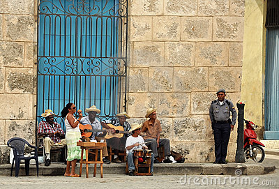 Havana street musicians Editorial Photo