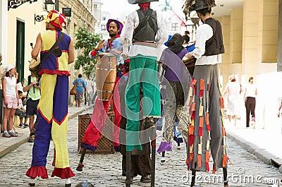 Havana Street performers Editorial Photography