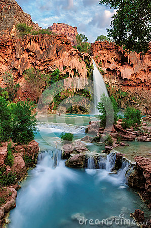 Free Havasu Falls, Natural Paradise In The Grand Canyon Royalty Free Stock Image - 55938926