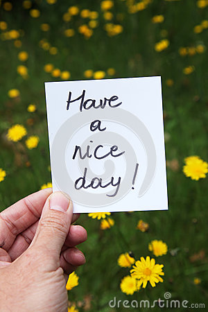 Free Have A Nice Day Stock Image - 26300471