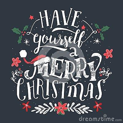 Free Have Yourself A Merry Christmas Greeting Card Royalty Free Stock Image - 103844806