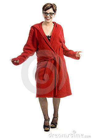 Free Having Fun In Bathrobe Stock Photo - 710870