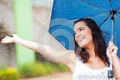 Having fun in rain