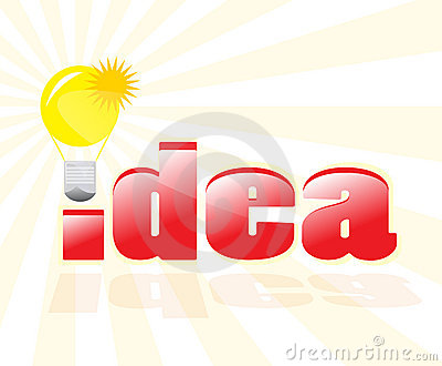 Having a good idea!
