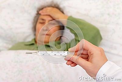 high fever: