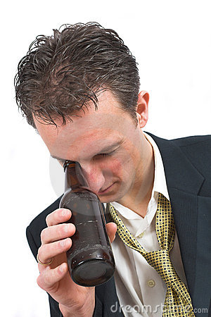 Free Having Looked Too Deep Into The Bottle Royalty Free Stock Photo - 613735