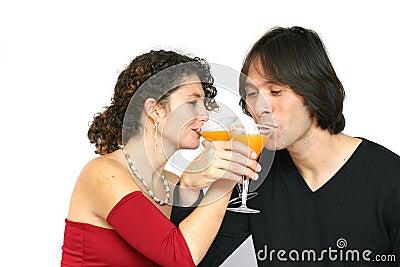 Having a toast