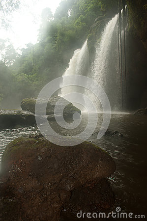 Haw Su wat waterfall in National park,Thailand.