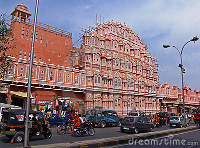 Hawa Mahal; Jaipur, India Editorial Photo