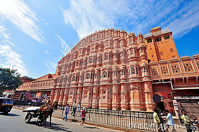 Hawa Mahal, Jaipur, India. Editorial Stock Image
