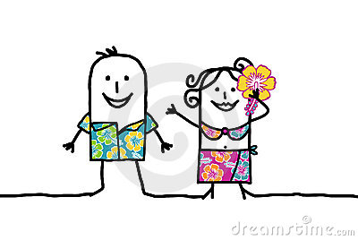 Hawaian couple