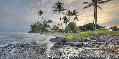 Hawaii Big Island Kona Coast early morning