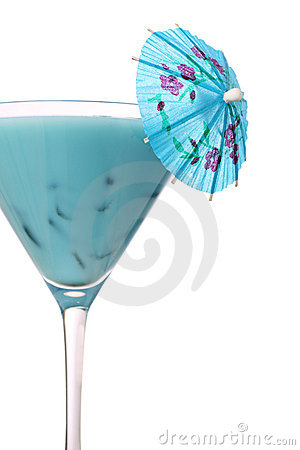 Free Hawaii Blue Cocktail Royalty Free Stock Photo - 9689155