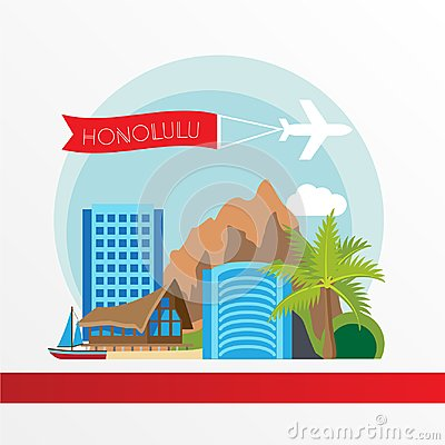 Free Hawaii Detailed Silhouette. Trendy Vector Illustration, Flat Style. Royalty Free Stock Photo - 122417515