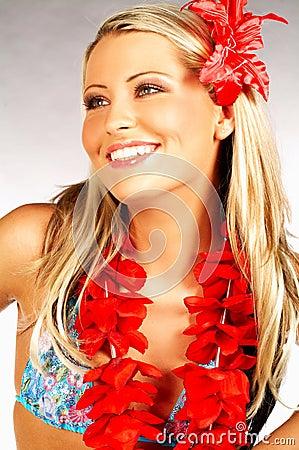 Free Hawaii Girl Royalty Free Stock Image - 584716