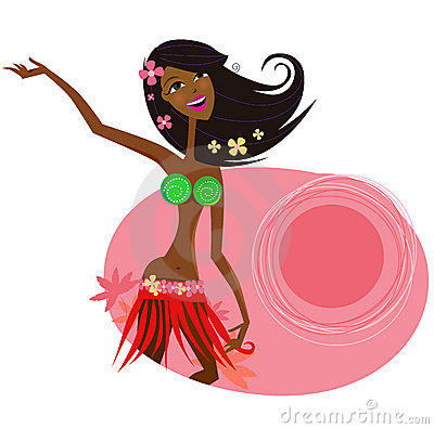 Free Hawaii Hula Girl Dancer Royalty Free Stock Images - 13605649