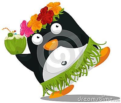 Hawaii hula penguin