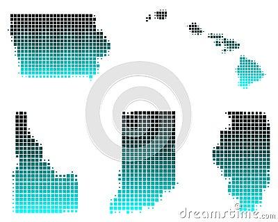 Hawaii, Idaho, Illinois, Indiana, Iowa