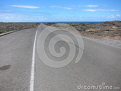 Hawaii Lava road to the sea