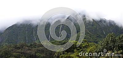 Hawaii Scenery: Rainy Season Mountain Waterfalls
