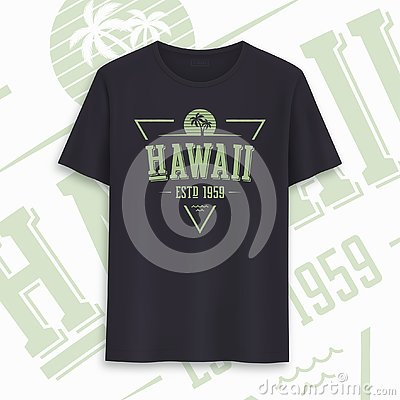 Free Hawaii State Graphic T-shirt Design, Typography, Print. Vector Illustration. Royalty Free Stock Photos - 144742448