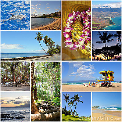 Free Hawaii Travel Collage Stock Photos - 24048793