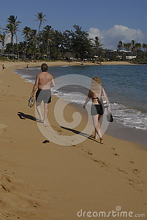 HAWAII_USA_Kapa a Beqch Park Editorial Stock Photo