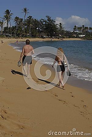 HAWAII_USA_Kapa a Beqch Park Editorial Stock Photo