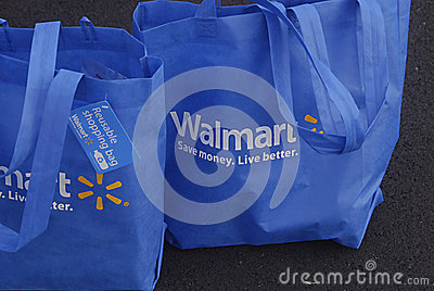 HAWAII_USA_Walmart shopping bags Editorial Stock Image