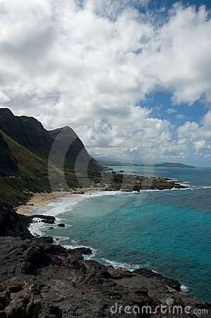 Hawaii Volcano coast line