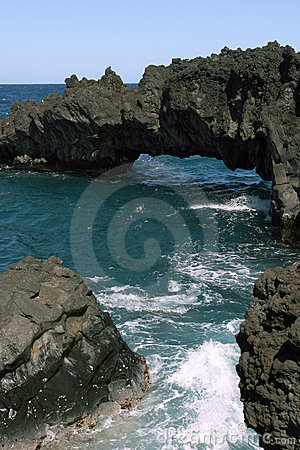 Hawaiian Beach Rock Formations