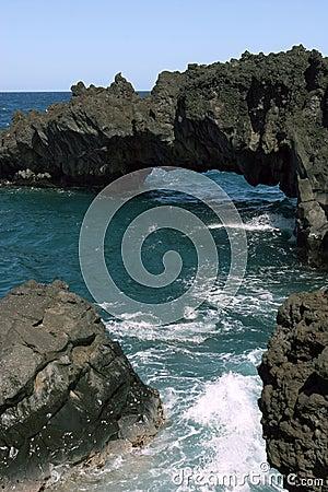 Free Hawaiian Beach Rock Formations Royalty Free Stock Photography - 1746177